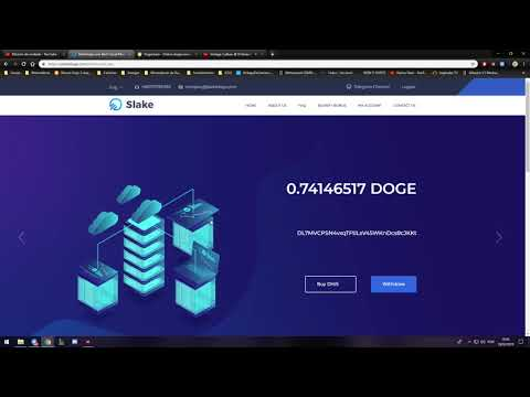 SAIU ! slakedoge.com – Nova Mineradora Dogecoin – Ganhe até $20 em Dogecoin no site !