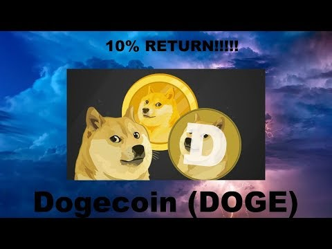 DOGECOIN UP 10% IN A WEEK!