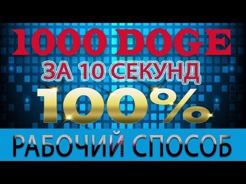 1000 DOGE ЗА 10 СЕКУНД! 100% рабочий способ!