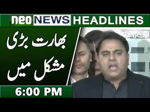 Pakistan Big Warning to India | Neo News Headlines 6:00 PM | 20 February 2019