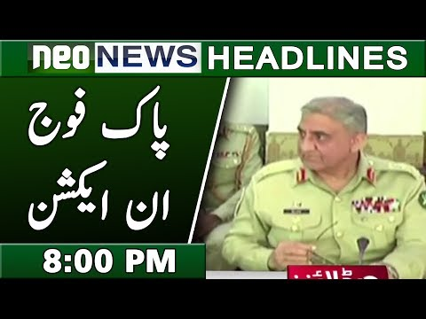 Pak Army in Action | Neo News Headlines 8:00 PM | 21 February 2019