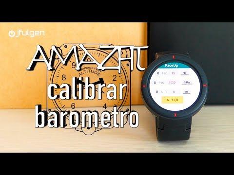 Calibrar Barómetro – AmazFit Pace Stratos Verge