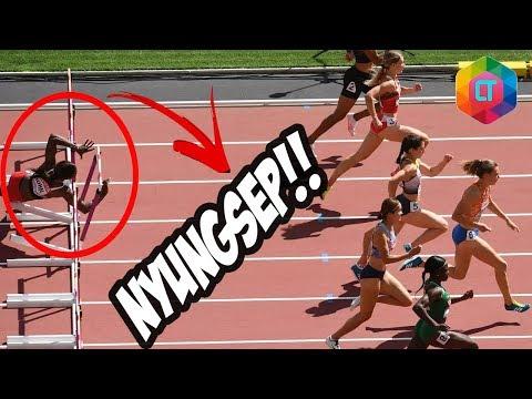 Ada yang nyungsep, ada yang kecantol, ada sumo balap lari, di 6 Momen Lucu perlombaan Lari