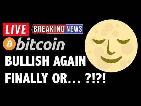 Bitcoin BULLISH AGAIN?! – LIVE Crypto Market Trading Analysis & BTC Cryptocurrency Price News 2019