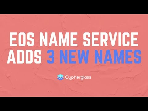 3 New Names on EOS Name Service!