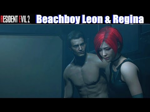 RE2 Beachboy Leon kisses Cosplay Ada (Dino Crisis) – Resident Evil 2 Remake 2019