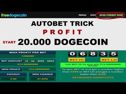 START 20.000 DOGECOIN AUTOBET SET 2019 – PROFIT 2400 DOGECOIN DALAM 6 MENIT