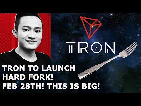 TRON TRX TO LAUNCH HARD FORK! FEB 28TH! THIS IS BIG!