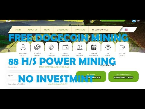 FREE DOGE  MINING |88 H/S POWER FREE |WITHOUT INVESTMENT | tamil kathambam
