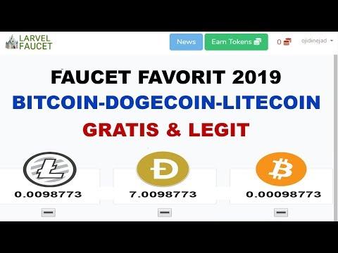 GRATIS & LEGIT! FAUCET FAVORIT 2019 – KLAIM BITCOIN, LITECOIN & DOGECOIN