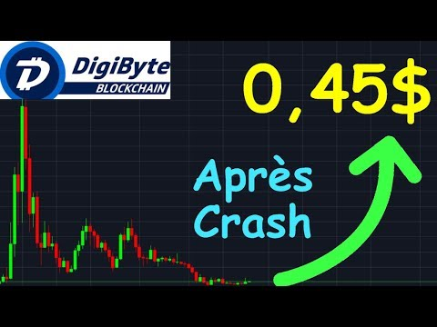 DIGIBYTE 0,45$ APRÈS LE CRASH!? DGB analyse technique crypto monnaie bitcoin