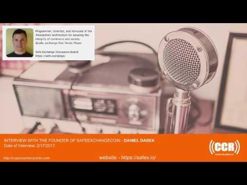 CCR  Interview –  Founder of Safe Exchange Coin – Daniel Dabek