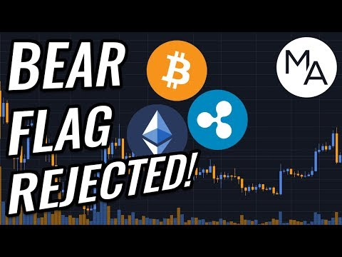 Bear Flag REJECTED In Bitcoin & Crypto Markets?! BTC, ETH, XRP, Cryptocurrency & Stocks News!