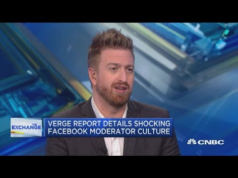 Verge's Casey Newton discusses his Facebook moderator story