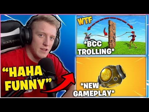 "TFUE Reacts To BCC Trolling ""Grapple Through Wall"" & New Legendary Port-A-Fortress Gameplay!"