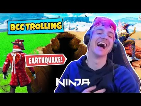 "NINJA REACTS TO *NEW EVENT* EARTHQUAKE BREAKS MAP"" by BCC TROLLING – Fortnite Funny Fails"