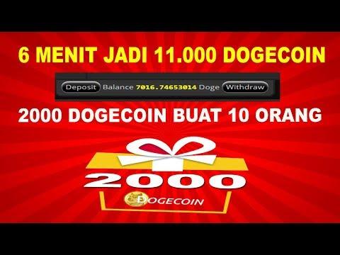 WOW! 6 MENIT JADI 11.000 DOGECOIN – [GIFTAWAY] 2000 DOGECOIN