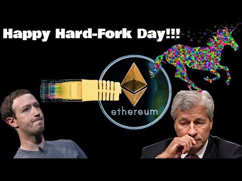 ? Ethereum Hard-Fork Day! | JP Morgan Coin Master Plan | Facebook Coin | More Cryptocurrency News!