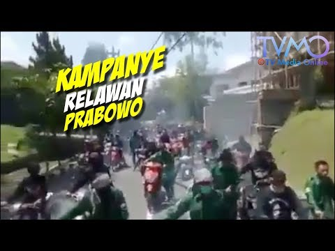GAK Ada Sopan Santunnya. Kampanye Relawan prabowo-sandi 02 Di Salah Satu Kota Di Jatim