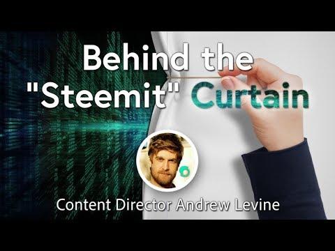 "Behind the ""Steemit"" Curtain"
