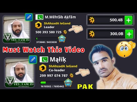 OMG | 800 Billion Coins With All Legendary Cues Max & Biggest Level Account In Pak ??