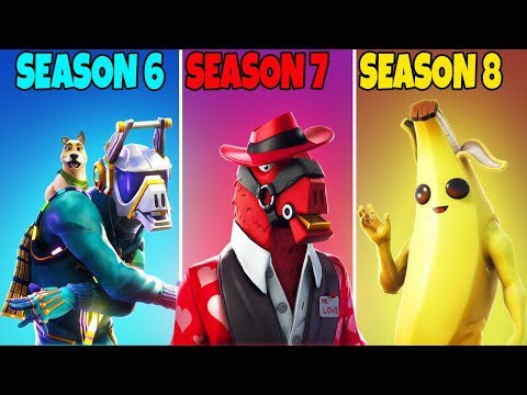 SEASON 6 vs SEASON 7 vs SEASON 8 – Fortnite Battle Royale