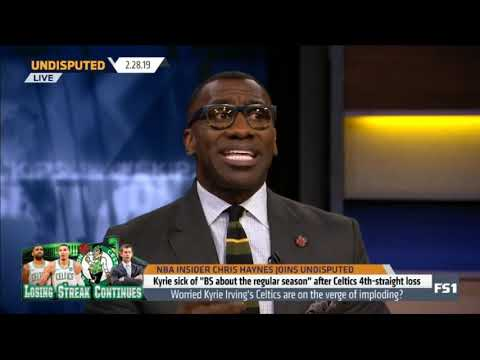 CHRIS HAYNES Worried Kyrie Irving's Celtics are on the verge of imploding?   UNDISPUTED