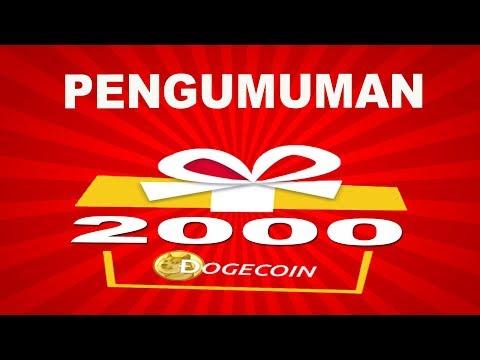 PENGUMUMAN GIFT AWAY 2000 DOGECOIN