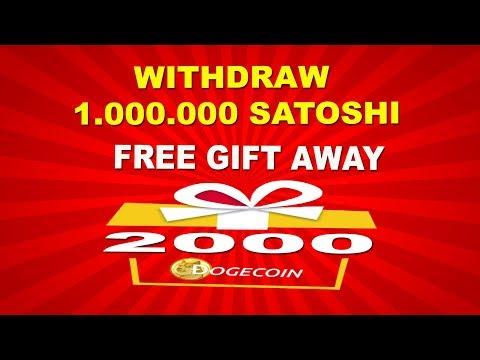 Withdraw 1.100.000 Satoshi Di 999DOGE – GIFT AWAY 2000 DOGECOIN