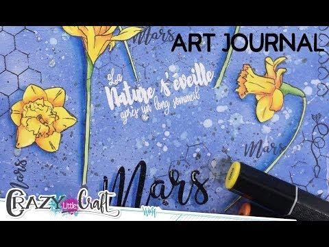 Une page de Art Journal avec Laety Sia
