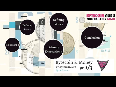 Bytecoin & Money-  Cost, Price and Value