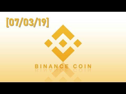 Обзор криптовалюты Binance Coin [BNB/USD] – [07/03/2019]