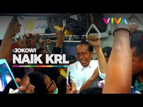 Heboh! Ada Pak Jokowi Naik KRL!