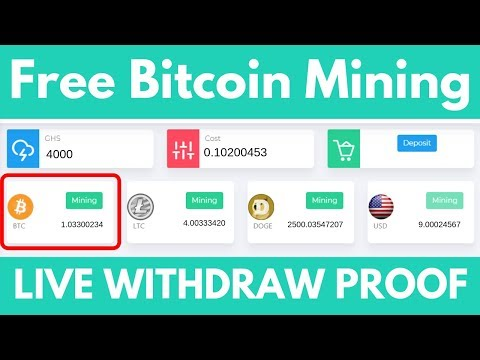 New free Bitcoin Cloud Mining Site 2019 | Live Payment Proof | New Free Btc Mining