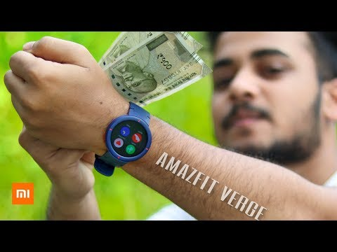 AMAZFIT VERGE IP68 Smart Watch Unboxing And Review