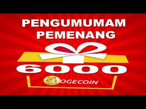 PENGUMUMAN GIFT AWAY 6000 DOGECOIN SESSION III