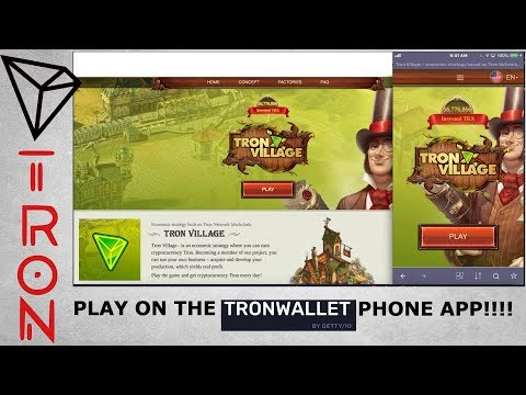 HOT DAPP! TRON VILLAGE! ECONOMIC STRATEGY BUILT ON THE TRON NETWORK!! EARN DIVS DAILY!!
