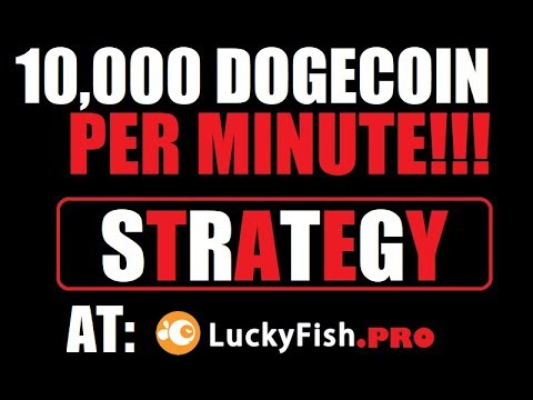 10,000 DogeCoin per Minute Strategy for Dice!!! Incredible Method!!!