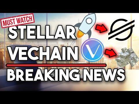 Stellar (XLM) Huge News! New Logo & MORE! VeChain (VET) 15% Gains & Summit Next Month!