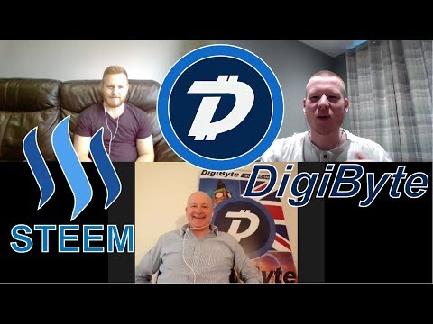 Digibyte & Steem Price Predictions & Insights With Stephen P Kendal! $100 Digibyte? #Podcast 33