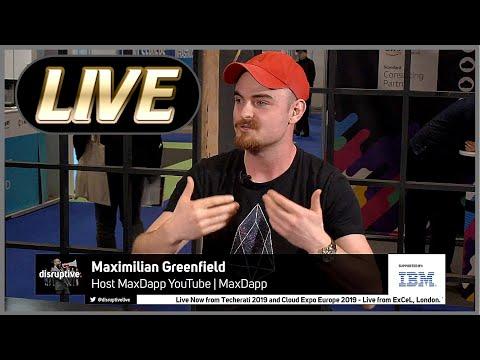 Techerati 2019 LIVE – MaxDapp (Me) Representing EOS & Talking Blockchain