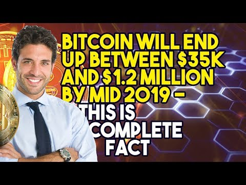 BITCOIN Will End Up BETWEEN $35K And $1.2 MILLION BY MID 2019 – This IS COMPLETE FACT