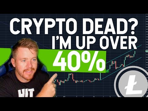 CryptoCurrency Dead? I'm Up 40% on my LiteCoin Swing!