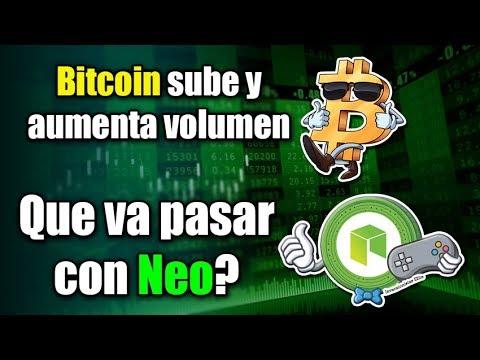 bitcoin sube y aumenta su volumen, que va pasar con NEO?, exchange cierra