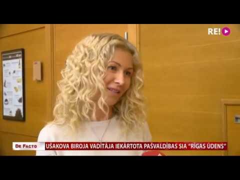 """Ušakova biroja vadītāja iekārtota pašvaldības SIA """"Rīgas Ūdens"""""""