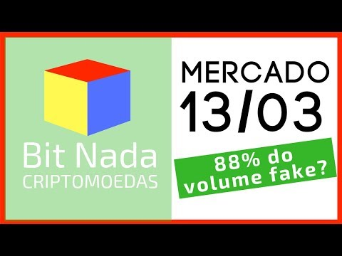 Mercado de Cripto! 13/03 Bitcoin / ADA / NANO / 88% do volume pode ser Fake?