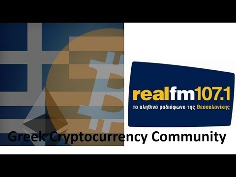 Greek Cryptocurrency Community ?onAir στον  RealFm Θεσσαλονίκης  107,1