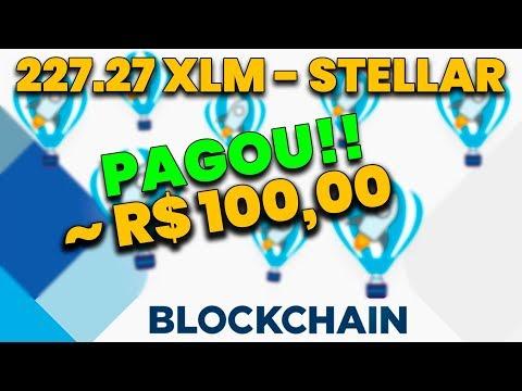 AIRDROP BLOCKCHAIN PAGOU $25 DÓLARES EM STELLAR – XLM