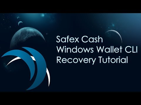Safex Cash Wallet Recovery ► Safex-Wallet-Cli ◀ Tutorial