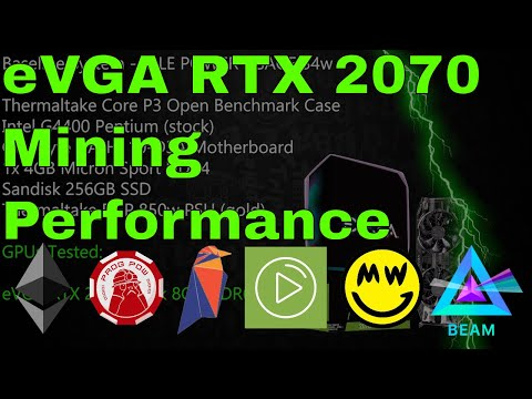 eVGA RTX 2070 Black Edition – How's it stack up on Cryptocurrency Mining?